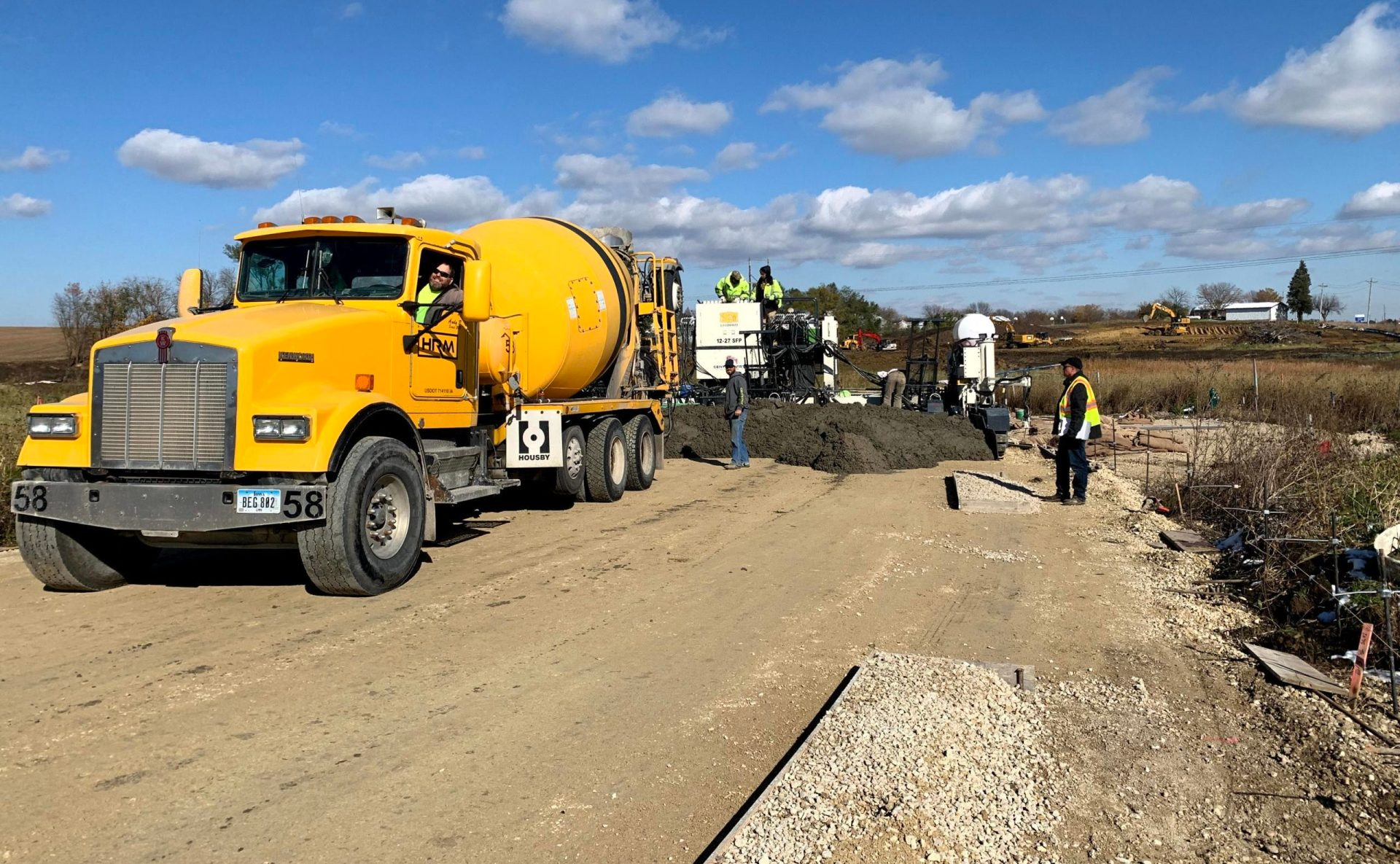 Hawkeye ready mix - road concrete commercial