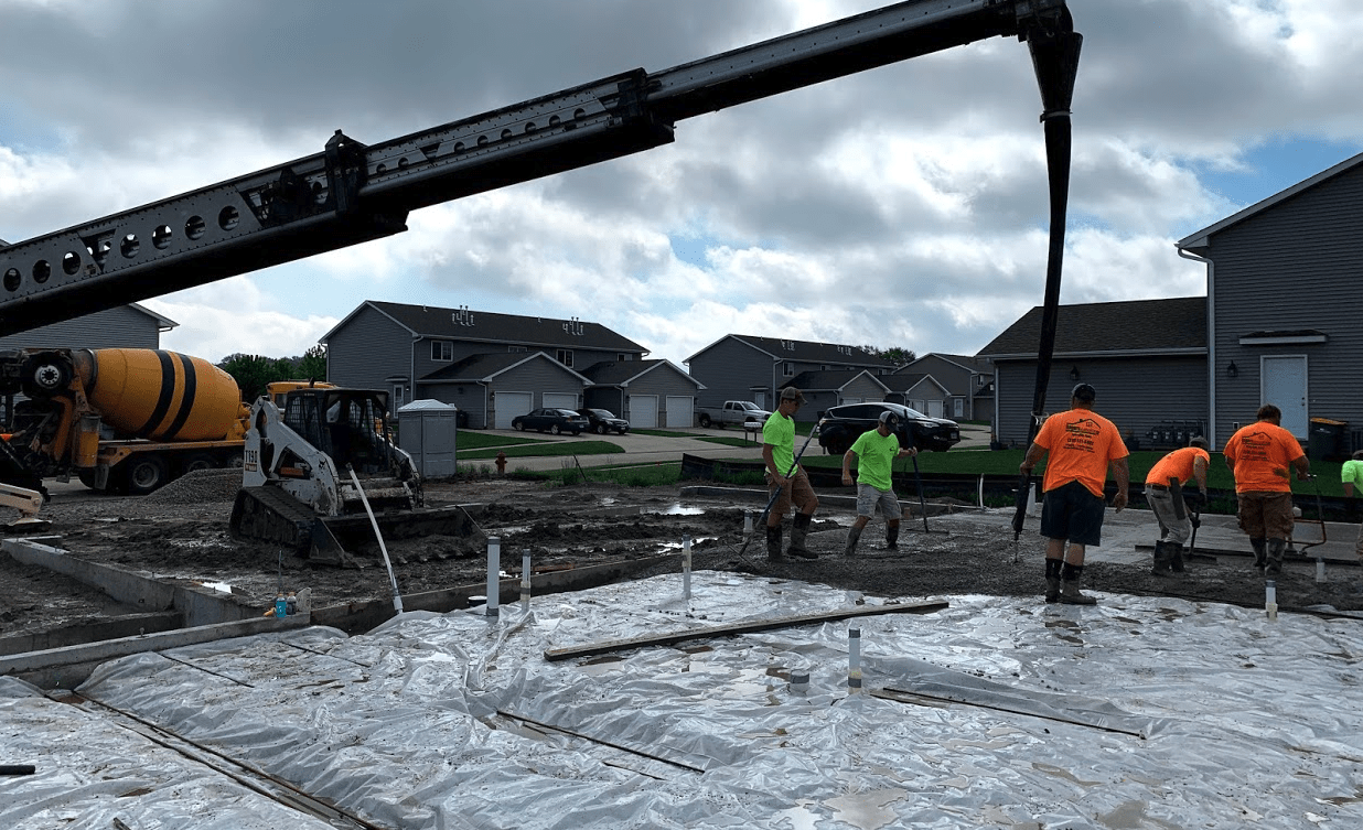 hawkeye ready mix residential basement pour