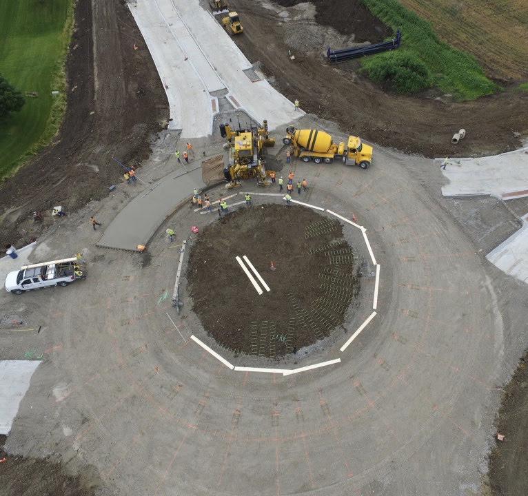 Roundabout in Cedar Rapids