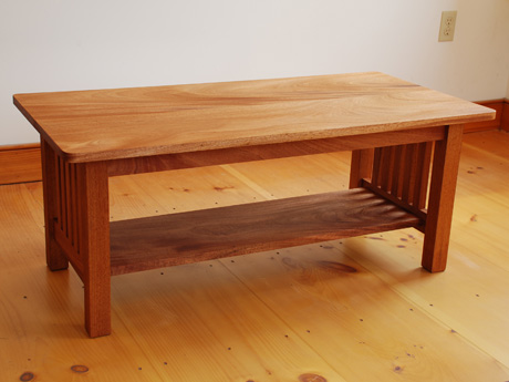 handmade mission coffee table in cherry