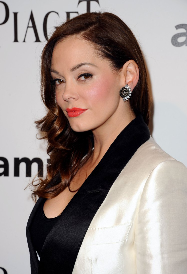 Rose McGowan at amfAR The Foundation for Aids Research ...