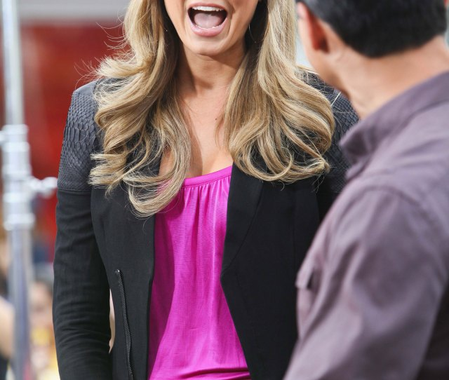 Stacy Keibler At Extra Tv Show At The Grove In Los Angeles
