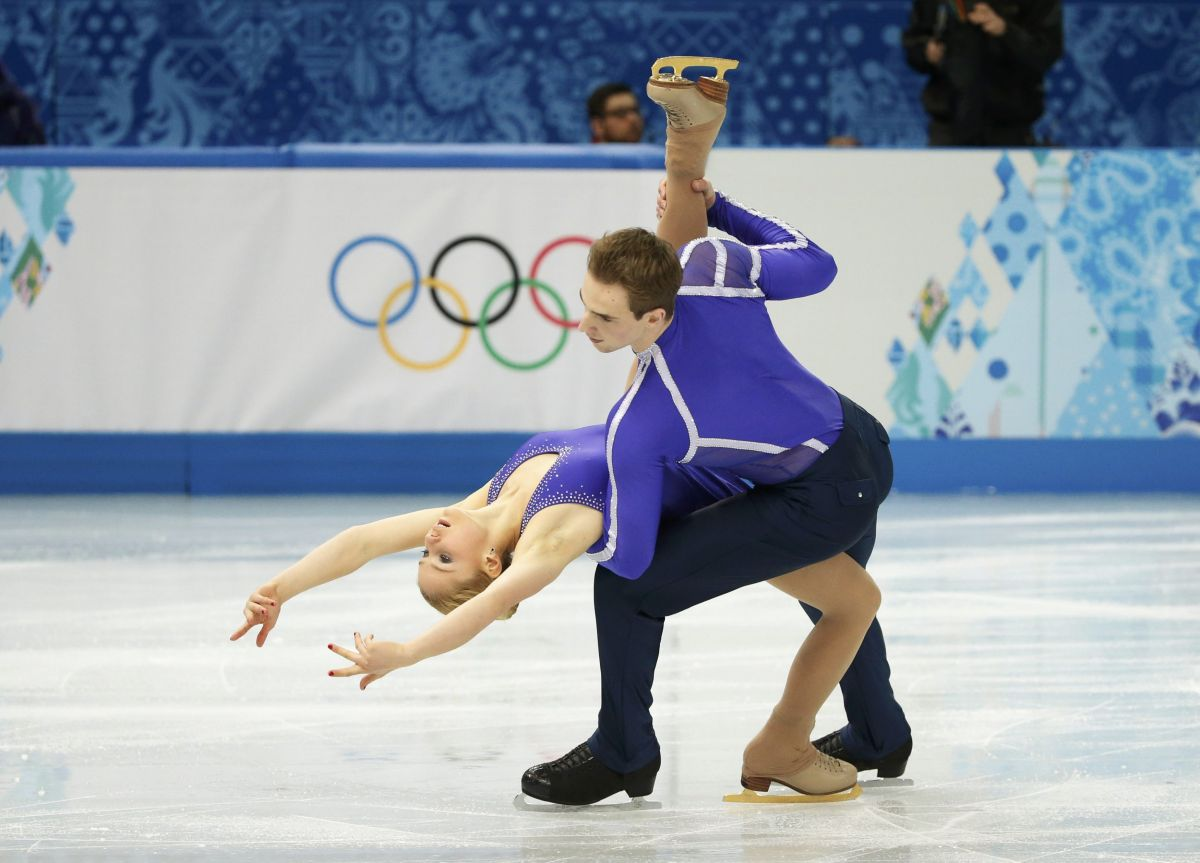 Julia Lavrentieva And Yuri Rudyk At Winter Olympics In Sochi