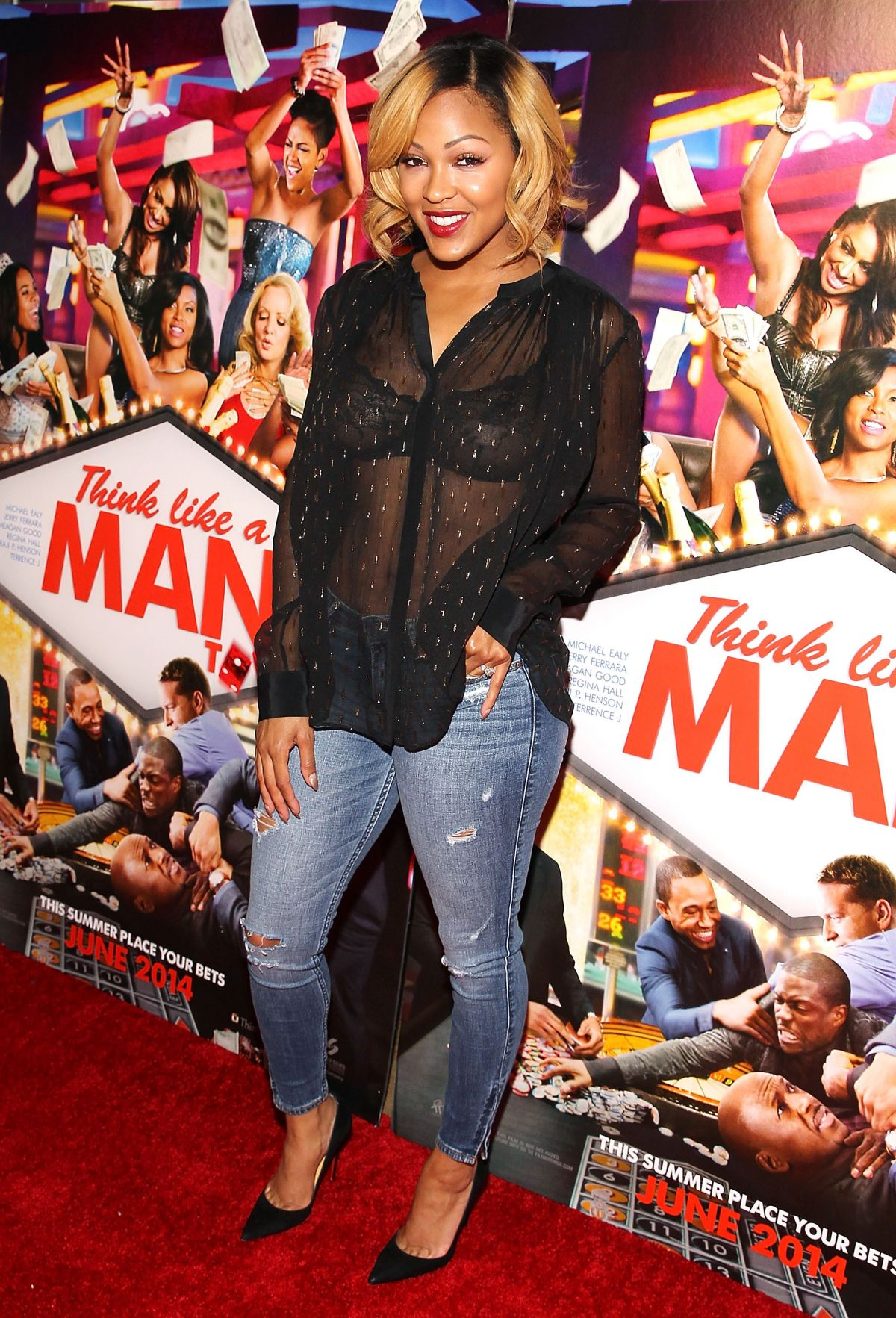 MEAGAN GOOD At Think Like A Man Too Screening In