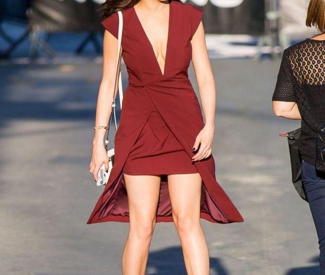 Elizabeth Gillies Arrives At Jimmy Kimmel Live In Hollywood