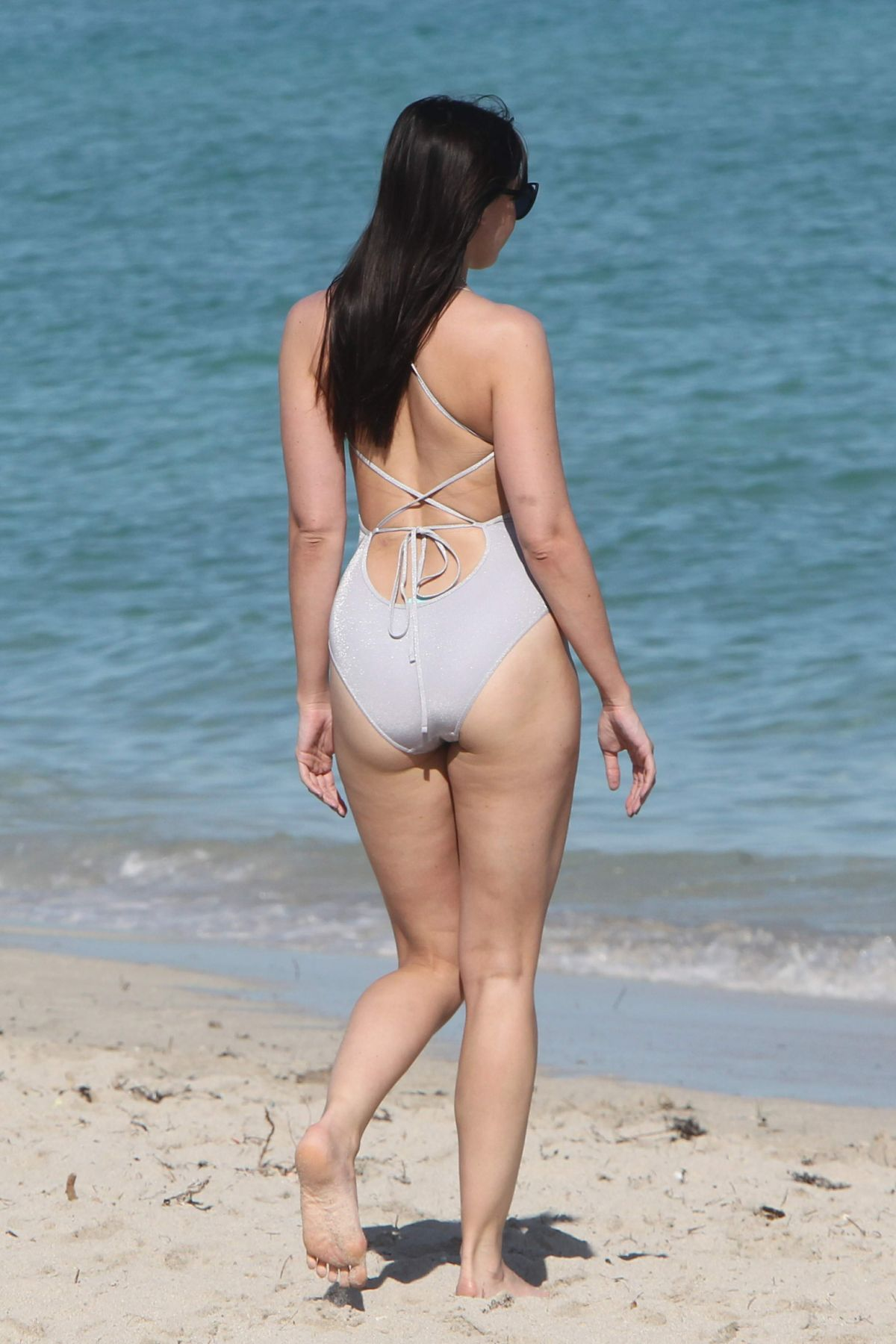 DAISY LOWE In Swimsuit At A Beach In Miami 01052017 HawtCelebs