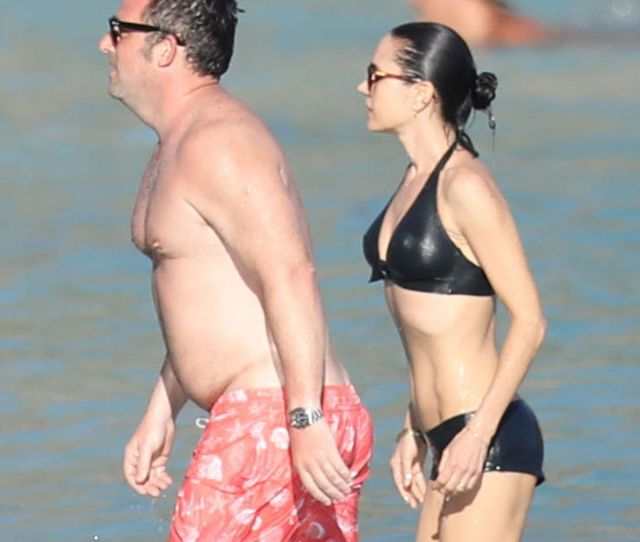 Jennifer Connelly In Bikini At A Beach In St Barts