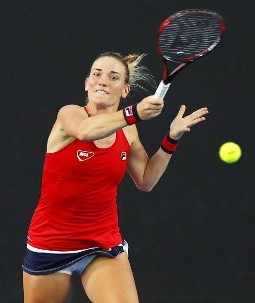 TIMEA BABOS at Australian Open Tennis Tournament in ...