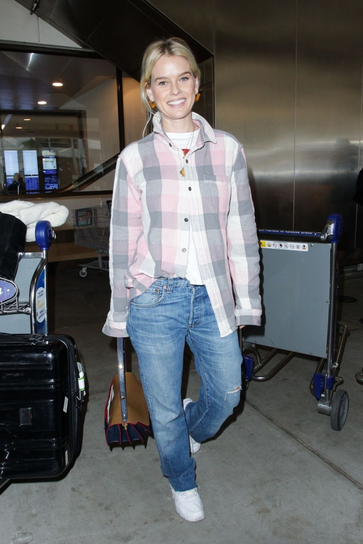 ALICE EVE at LAX Airport in Los Angeles 11/28/2018