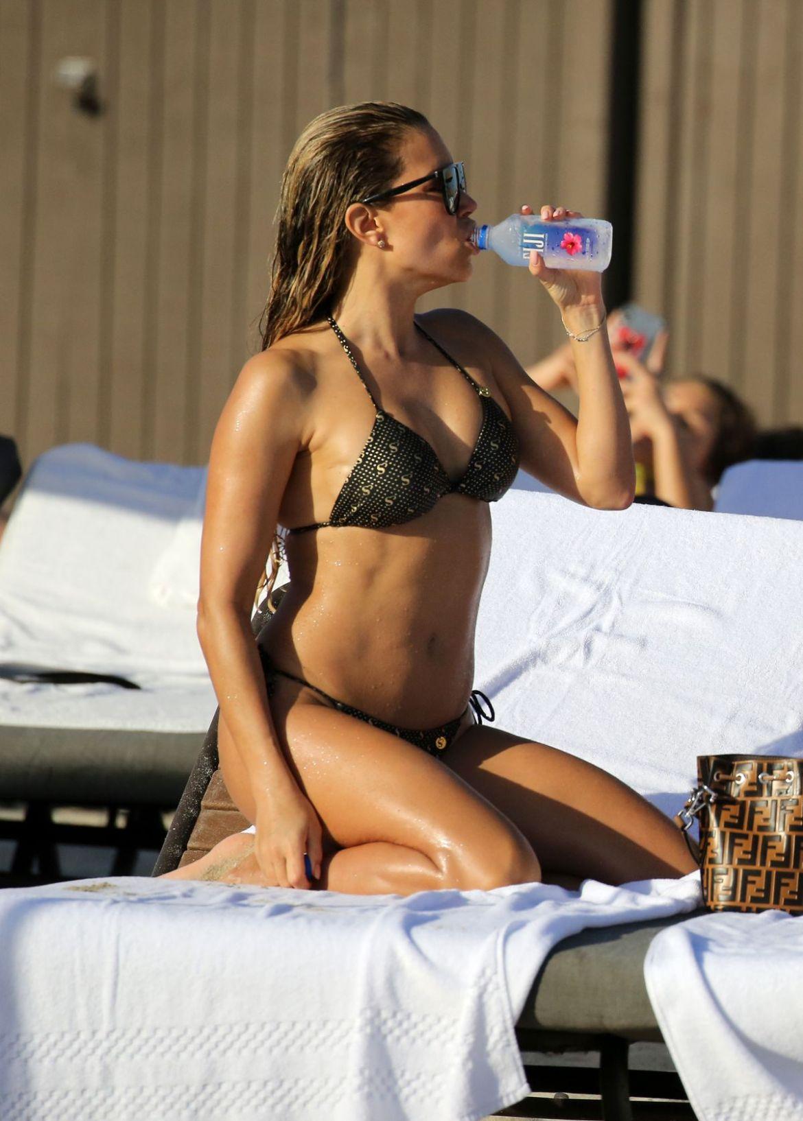 SYLVIE MEIS in Bikini at a Beach in Miami 12/29/2018