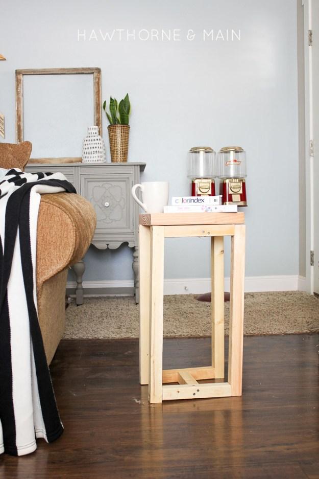 simple diy wood side table