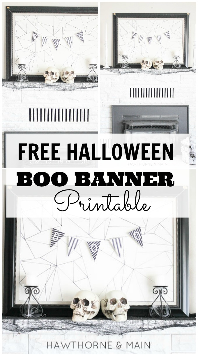 graphic regarding Boo Printable identify Absolutely free Halloween BOO Printable Banner Property Decor