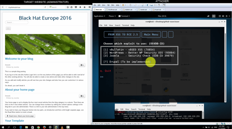 XSSER – From XSS to RCE