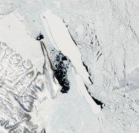 קרחון גדול מתנתק באנטרקטיקה, 2005. ההתחממות הגלובלית תגיע גם לאנטראטיקה