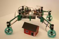 אב טיפוס של רובוט הבנייה הירחי המפותח בשוודיה