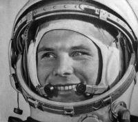 יורי גגרין בחליפת החלל שלו