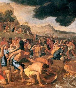 חצית ים סוף, ציור מאת ניקולס פוסין, 1634