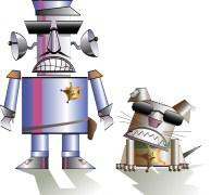 רובוט שוטר וכלבו. איור: shutterstock