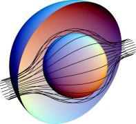 האור עוקף כדור תלת ממדי והופך אותו לבלתי נראה. איור: אוניברסיטת דיוק
