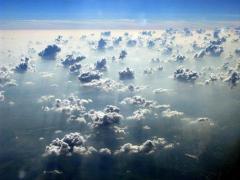 עננים מעל ברזיל. צילום: אילן קורן, מכון ויצמן