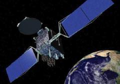 תפיסת אמן של הלווין גלקסי 15 במסלול. איור: Orbital Sciences