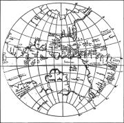 מפת העולם ששורטטה ב 1533