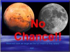 מאדים גדול כמו הירח? אין סיכוי. איור: UNIVERSE TODAY
