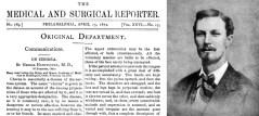 הדף הפותח של הפרסום הראשון בו מתאר האנטינגטון את המחלה הנקראת על שמו
