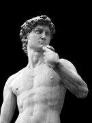 דוד אוחז באבן. פסלו המפורסם של מיכאלאנג'לו, פירנצה.