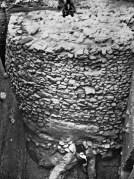מגדל ביריחו במהלך החפירות. התמונה באדיבות בית הספר הבריטי לארכיאולוגיה בירושלים.