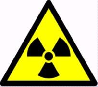 סמל אזהרה לחומר רדיואקטיבי. מתוך ויקיפדיה