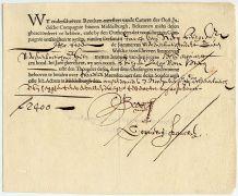 איגרת חוב של חברת הודו המזרחית ההולנדית משנת 1623