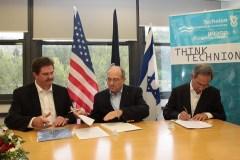 טקס חתימת הסכם שיתוף הפעולה בין הטכניון לאוניברסיטת רוצ'סטר