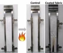 חומר ננומטרי מעכב בערה. איור: ACS - האגודה האמריקנית לכימיה