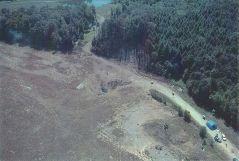 אתר התרסקות טיסה 93 של יונייטד איירליינס בפנסילבניה. מתוך ויקיפדיה