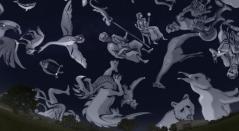 מפת שמיים המתאימה לישראל בליל ה-8 באוקטובר ומציגה את האופק הצפוני בהדגשת קבוצות הכוכבים. קבוצת דרקון נראית משמאל לאמצע התמונה כשלימינה קבוצת הדובה הקטנה (בקצה זנבה נמצא כוכב הצפון) לשמאלה קבוצת נבל (שמהווה חלק ממשולש הקיץ), שתיהן קבוצות מוכרות וקלות לזיהוי. התמונה מתוכנת סטלריום, תוכנת אסטרונומיה בקוד פתוח.