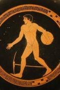 זורק הדיסקוס מיוון העתיקה, כפי שמופיע על פריט במוזיאון הלובר בפריס