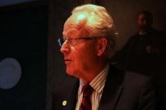 לארס הייקנסטן במסיבת העיתונאים בקרן נובל. צילום: דוברות הטכניון