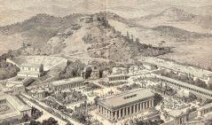 שיחזור המתקנים והמבנים באולימפיה העתיקה. מתוך ויקיפדיה