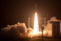שיגור המשגר הראשון מדגם וגה, קורו, גואיינה הצרפתית, 15/2/2012. צילום: סוכנות החלל האירופית