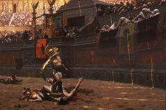 גלדיאטורים בזירת הקרב, בציורו של ז'אן-לאון ז'רום מ-1872