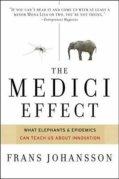 """כריכת הספר """"אפקט מדיצ'י"""", מאת פרנס ג'והנסון, Harvard Business Press Books, 2004"""