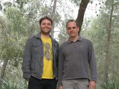 דוקטור שגיב שיפמן (ימין) ואייל בן-דוד. צילום: האוניברסיטה העברית