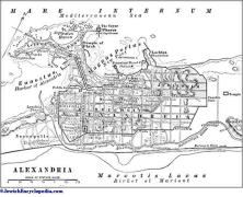 מפת אלכסנדריה העתיקה. מתוך ויקיפדיה