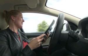 מכונית ללא נהג בפרויקט SARTRE. צילום מסך מתוך סרט הוידאו
