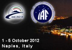 לוגו כינוס IAC2012 המתקיים בנאפולי. בשנת 2015 ישראל תארח את כינוס האסטרונאוטיקה העולמי