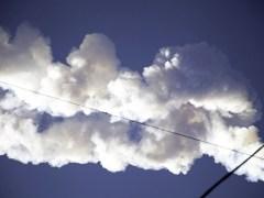 זוית נוספת של הפיצוץ האווירי של מטאור מעל רוסיה, 15 בפברואר 2013
