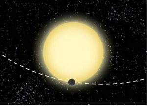 """אילוסטרציה של Kepler-76 גרפיקה: """"dood Evan"""". התצלום באדיבות אוניברסיטת תל-אביב"""