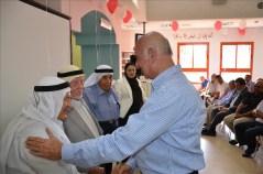השר יעקב פרי נפגש עם בכירי בקעא אל גרביה בעת הקמת המרכז המדעי. צילום: משרד המדע, הטכנולוגיה והחלל