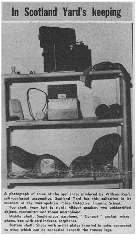 התקני השרלטנות של רוי, אשר שוכנים עד היום במוזיאון הסקוטלנד יארד.